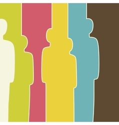 Colorful crowd vector image