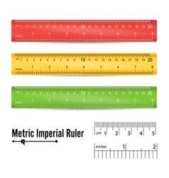 school measuring ruler measure tool vector image vector image