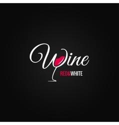 wine glass logo design background vector image