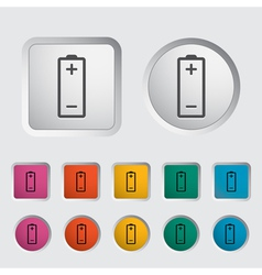 Battery icon vector image