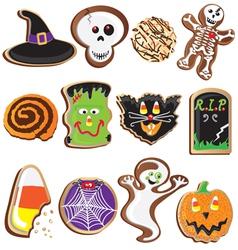 cute halloween cookies clipart vector image vector image