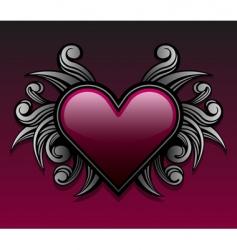 gothic heart design vector image