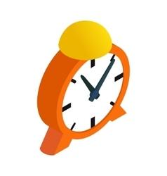 Alarm clock isometric 3d icon vector