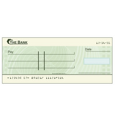 blank cheque vector image