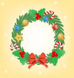 christmas wearth vector image