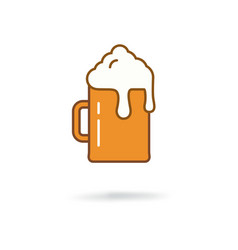 flat beer icon vector image vector image