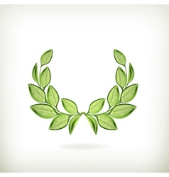Laurel wreath green award vector image