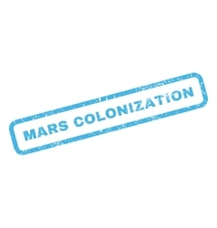Mars colonization rubber stamp vector