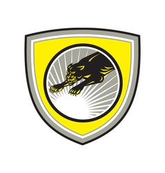 Panther Big Cat Growling Crest vector image vector image