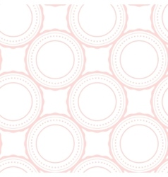 Pink rings abstract seamless pattern on white vector image vector image