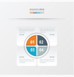 Rectangle presentation design orange blue gray vector