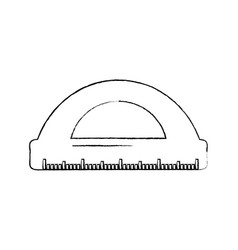 ruler math measuring icon image vector image vector image