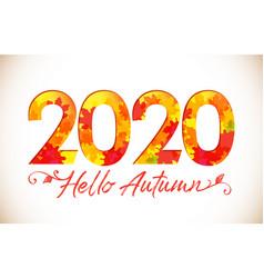 2020 hello autumn vector