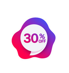 30 off discount offer sale banner vector