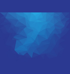 abstract blue tone low polygon background vector image