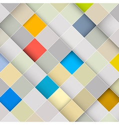 Abstract Square Retro Background vector image