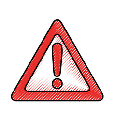 Alert signal isolated icon vector