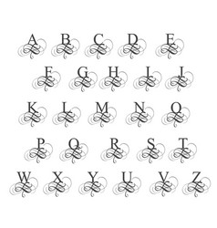 art calligraphy alphabet vector image