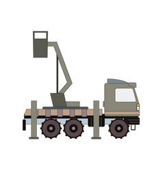 auto crane vector image