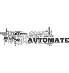 automate automate automate text background word vector image