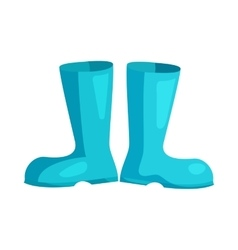 Blue rubber boots icon cartoon style vector image