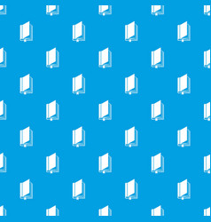 Book with bookmark pattern seamless blue vector
