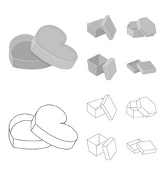 box container package and other web icon in vector image