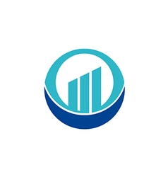 Business finance chart round logo vector