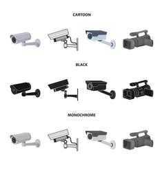 Camcorder and camera symbol vector
