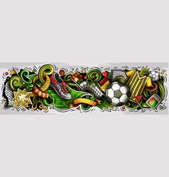 cartoon doodles football banners vector image
