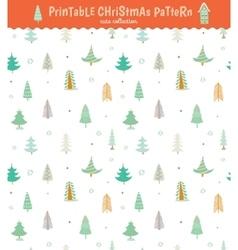 Christmas holidays seamless pattern vector image