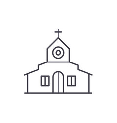 church line icon concept church linear vector image