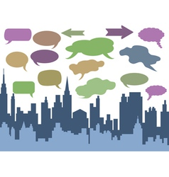 city talk vector image