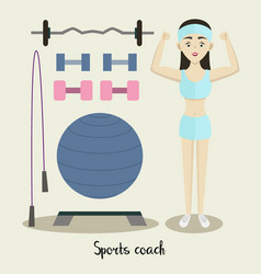 coach sport with standing position vector image