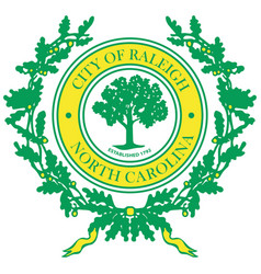 Coat arms raleigh in north carolina is a vector