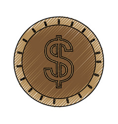 coin cash isolated vector image