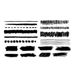 collection grunge hand drawn paint dubs vector image