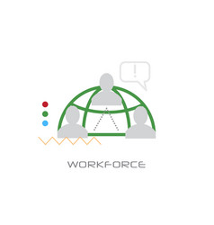 company business team leadership work force vector image