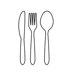 cutlery related icons image vector image