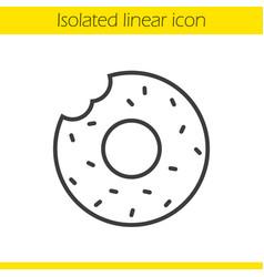 Doughnut linear icon vector