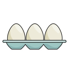 eggs container isolated icon vector image