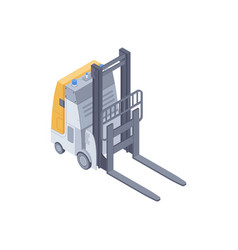 Electric forklift isometric vector