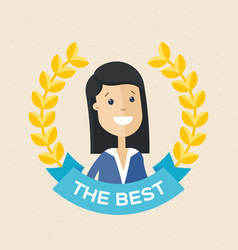 employee of the year award best award wreath for vector image