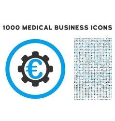 Euro Payment Options Icon with 1000 Medical vector image