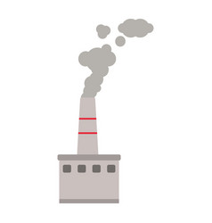 Factory industry with smoking pollution vector