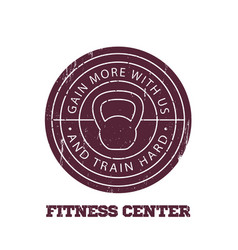 Fitness center round logo badge emblem vector