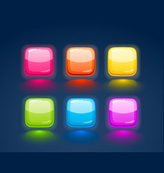game match icon square set in different colors vector image