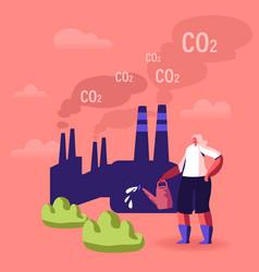 Global warming environment pollution vector