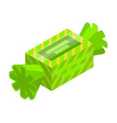 Green bonbon icon isometric style vector