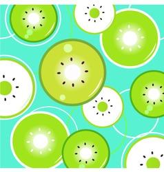 green kiwi background vector vector image